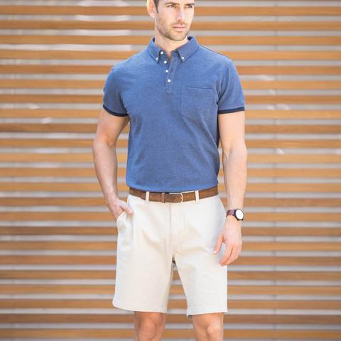 James Harvest Carson Mens Stretch Cotton Twill Shorts
