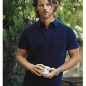 James Harvest Cotton Jacquard Knit Polo Shirt