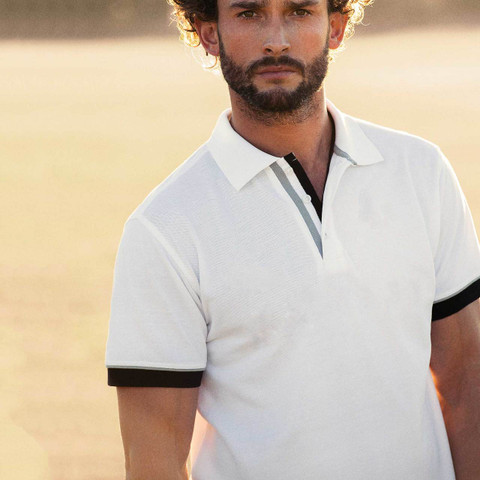 ANDERSON | Contrast Modern Fit Mens Polo Shirt