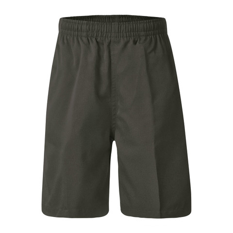Plain School Shorts - Grey