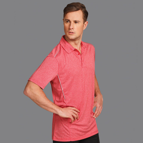 Mens Quick Dry Polo Shirt | Reflective Piping