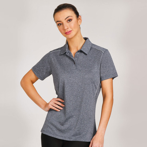 Wholesale Ladies Quick Dry Polo Shirt | Reflective Piping