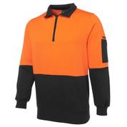SUPPLY   Safety Hi Vis 1/2 Zip Fleecy Sweater