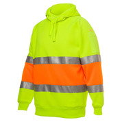 Safety Hi Vis Biomotion Fleecy Hoodie (3M Tape)