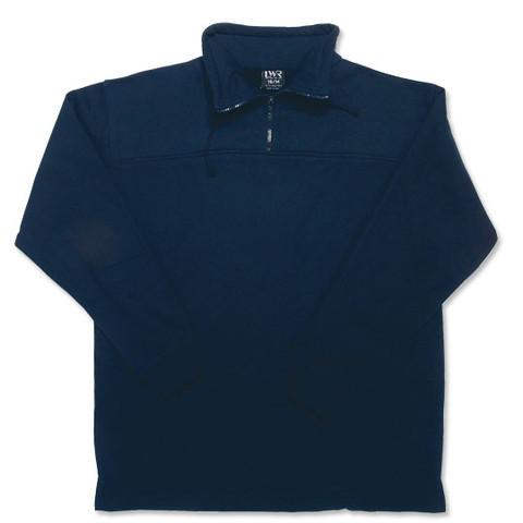 Half-Zip Loose Waist Sweater