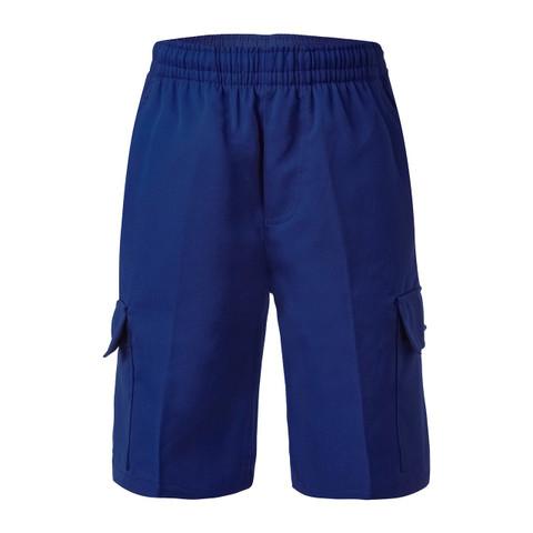 Boys Cargo School Shorts - Royal