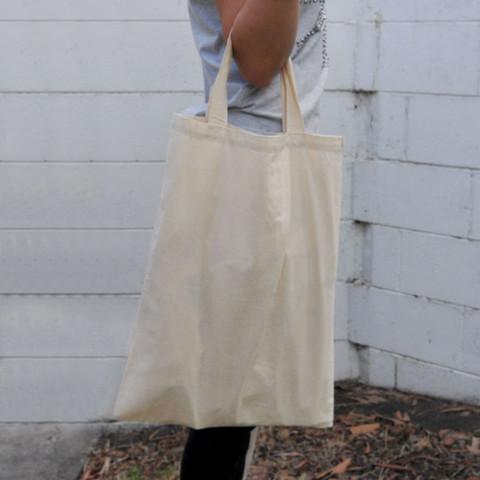 short handles shopping promotional calico bag online