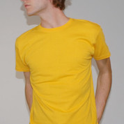 BLANK Men Slim Fit Tees Gold