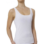 PRAISE | Soft Seam Free 100% Cotton Tank | White