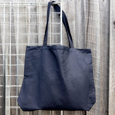 MALL | plain cotton tote bags | black