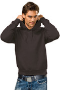 DAKOTA Men Heavyweight Hooded Sweatshirt Black Opal