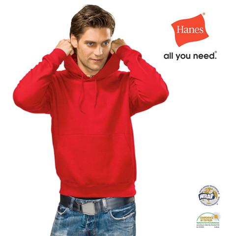 DAKOTA | Hanes Men Heavyweight Hooded Sweatshirt Scarlet Red