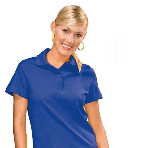 INDIANA Women Heavyweight Polo Shirt Bright Royal