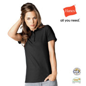 INDIANA | Hanes ladies Heavyweight Polo Shirt Black Opal