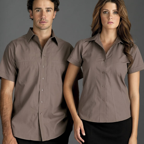 BISTRO men's business shirts short sleeves