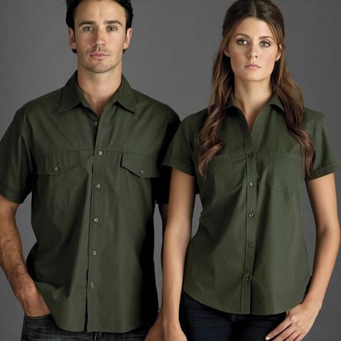 COOLUM Men Business Shirts Short Sleeve