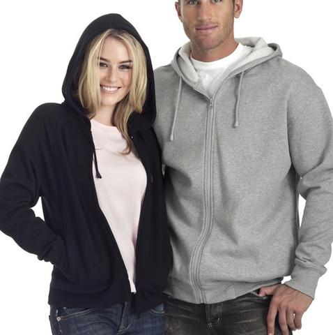 TORQUAY zipper hoodies cotton rich