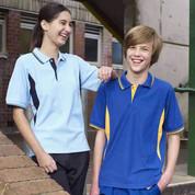 Kids Contrast Raglan Polo Shirt Uniform
