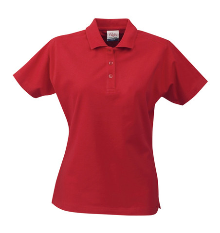wholesale Women polo shirts cotton pique RED