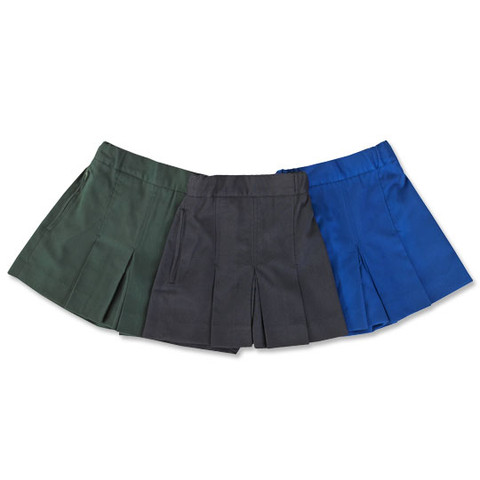 Box-Pleat School Shorts For Girls