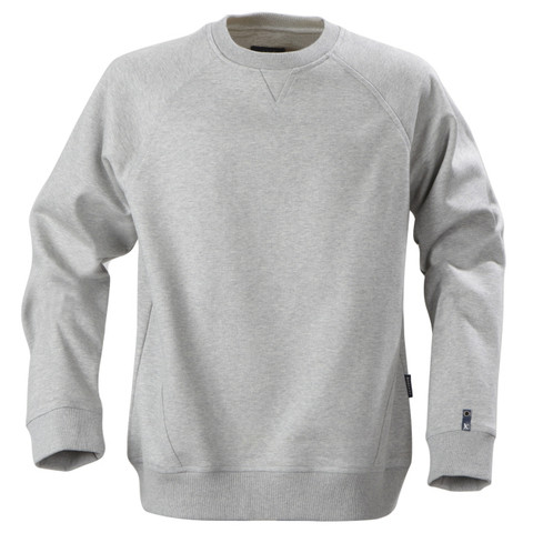 NEWPORT Unisex sloppy joes deluxe cotton-rich Grey Melange
