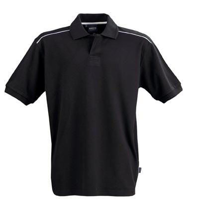 VERONA Men cotton jacquard polo shirts BlackNavy