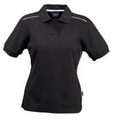 VERONA Women cotton jacquard polo shirts Black/White