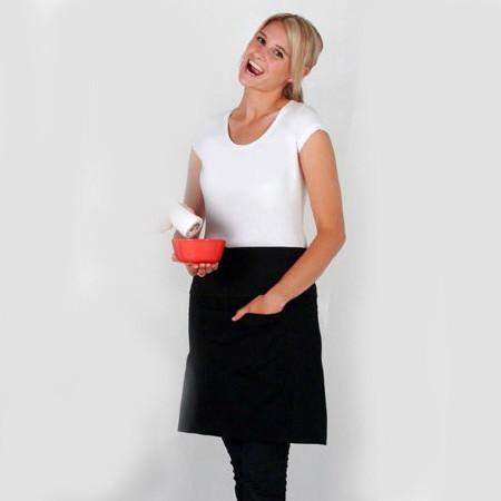 Short Waist Pocket Apron | Wholesale Supplier Australia Hospitality Cafe Restaurant Aprons