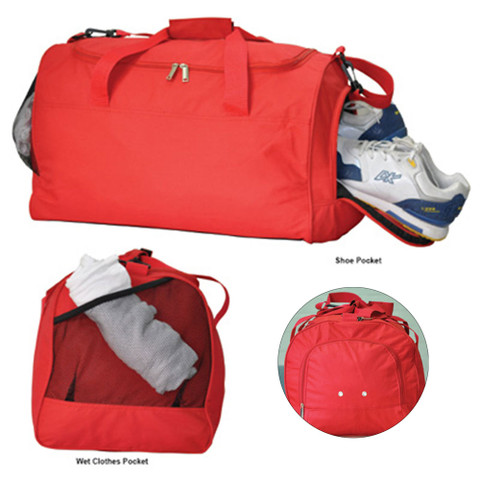 Gym/Sports Bag Shoe Pocket and Wet Clothes Pocket