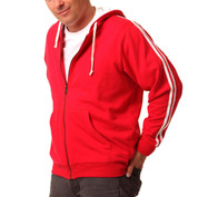 DELTA Men zipper hoodies twin-stripe