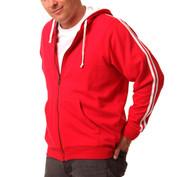 DELTA Men zipper hoodies twin-stripe