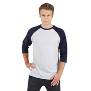 Bulk Wholesale Mens 3/4 Baseball Raglan Tshirt