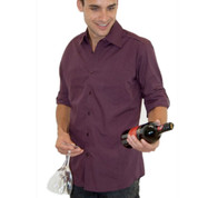Murray mens long sleeve shirt - wine
