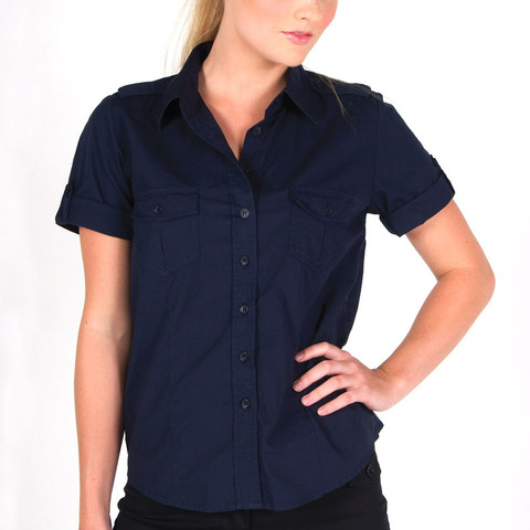 100% Cotton Short Sleeve Military Shirt