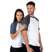 Wholesale Plain Two-Tone T-Shirts Raglan Sleeves
