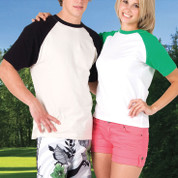 plain wholesale two-tone raglan t-shirts