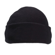 plain polar fleece beanies Black