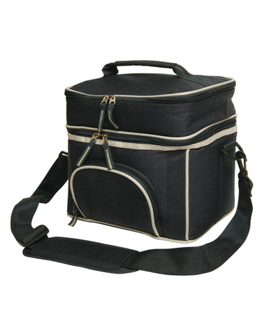 Bulk Buy Picnic Cooler Bag Black Silver