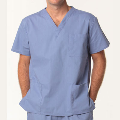 SCRUBS Unisex plain scrubs top