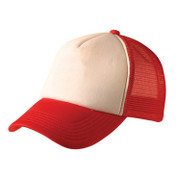 Wholesale Plain Trucker Cap Online White/Red