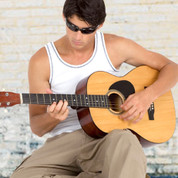 Wholesale Mens ribbed singlet with contrast top-stitched