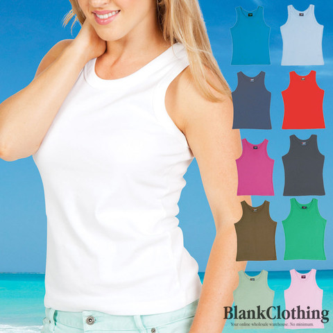 Wholesale Supplier Australia Ladies tank ribbed singlets