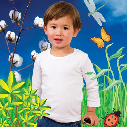 Baby/children's t-shirts long sleeves organic