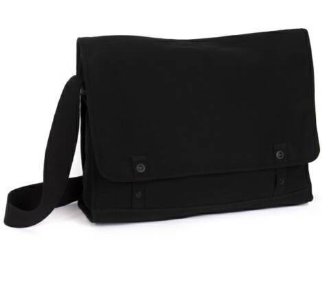 plain canvas uni bags | black