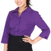 wholesale supplier australia womens business shirts 3/4 sleeves