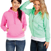 Buy online ladies hoodies fashion fluoro neon