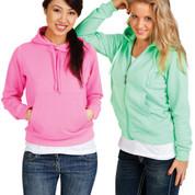 Buy online ladies hoodies fashion fluoro neon