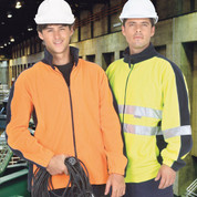 LANDER   safety hi vis polar workwear fleece jacket with 3M reflective panel