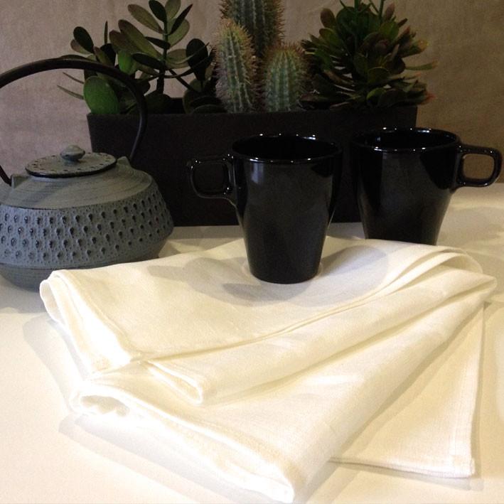 Plain DIY Cream Linen Tea Towels