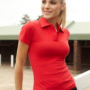 v neck short sleeve polo women online